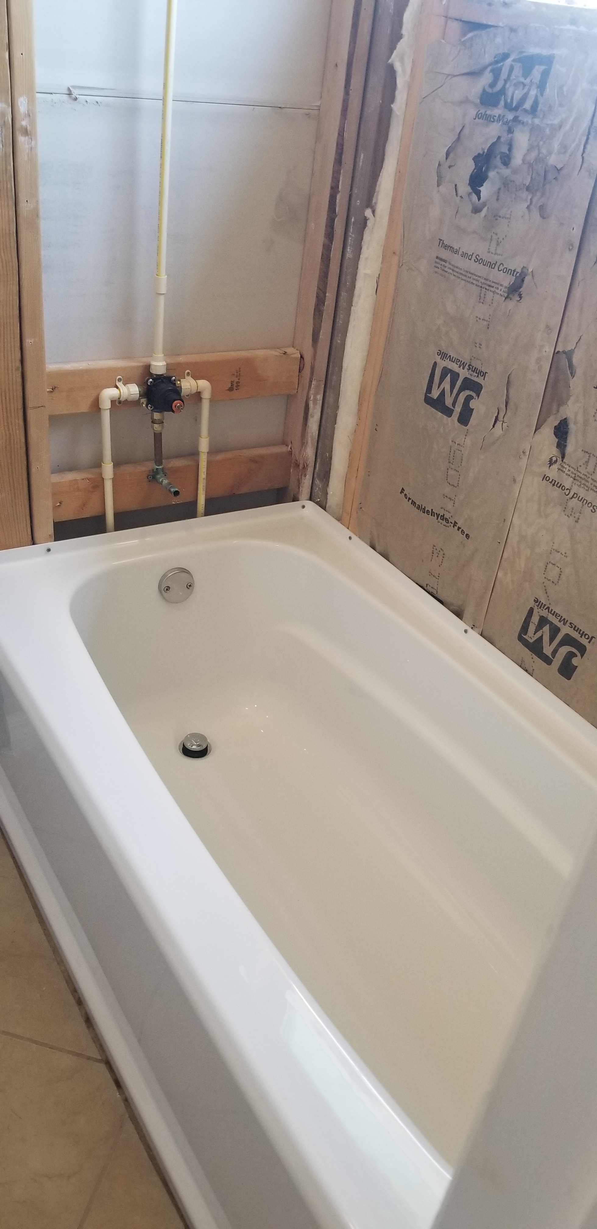 Tub and Shower Valve Install